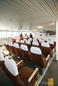 The Airconditioned Cabin of Sun Cruise Ferry to Corregidor
