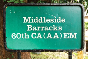 Corregidor's Middleside Barracks Marker