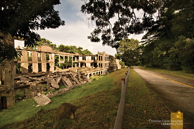 Desolate Road Along Corregidor's Barracks