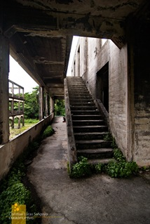 A Staircase Leading Upstairs at the Old Corregidor Hospital