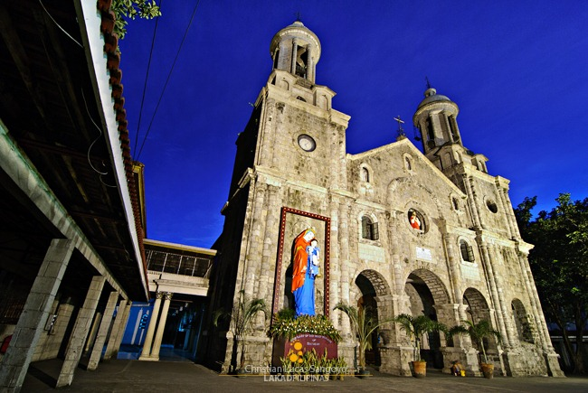 The Stone Facade of the San Sebastian Cathedral in Bacolod City