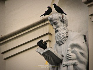 The Ravens and the Saint at the San Diego Cathedral in Silay City