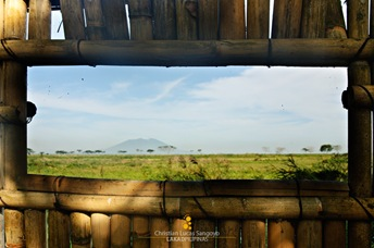 Mt. Arayat Through the Fence Peephole at Candaba Swamp