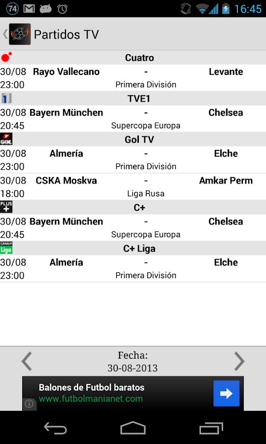 Social Fútbol - Resultados - screenshot