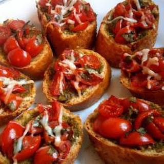 Tomato and Basil Pesto Bruschetta Recipe