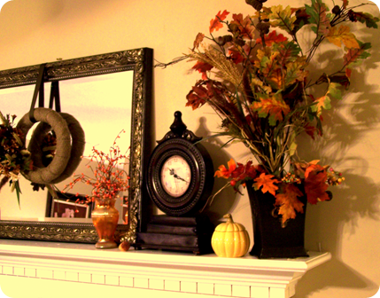 Image result for pottery barn fall mantel