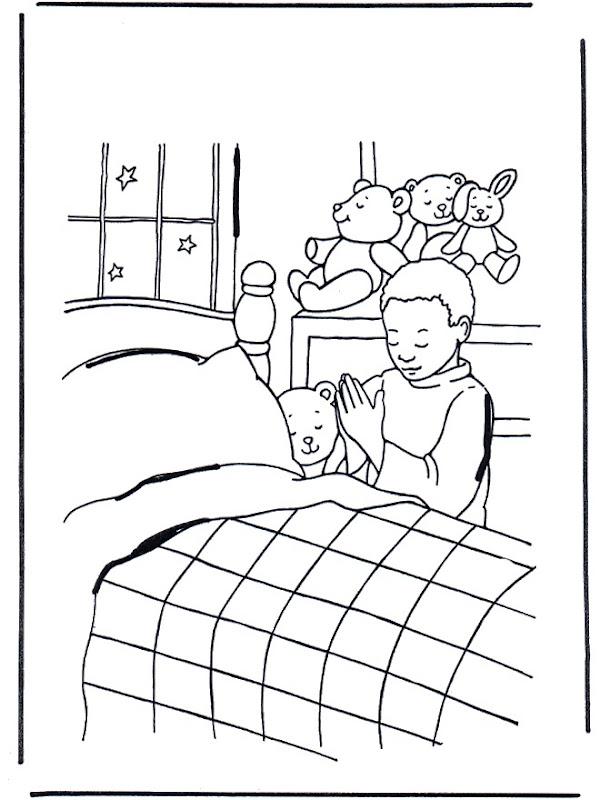 Dibujos para colorear de niños rezando | Colorear dibujos infantiles
