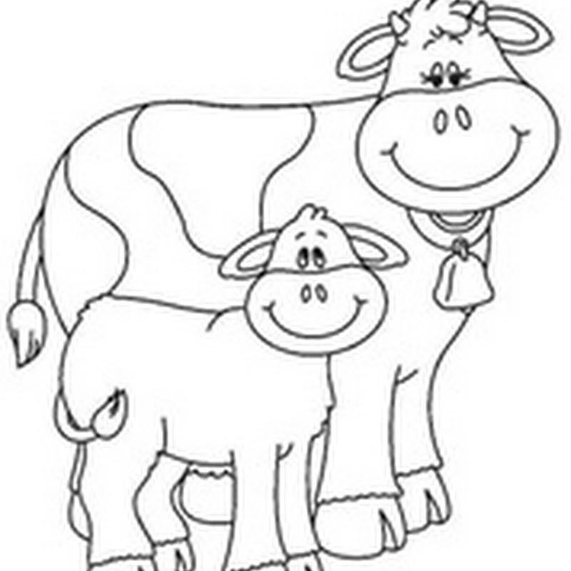 Colorear dibujos animales de granja