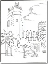 blogcolorear-com Castillo de San Marcos de Cadiz