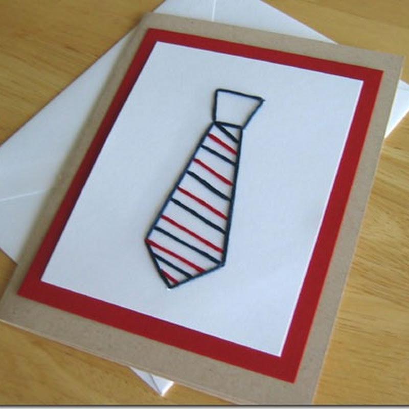 Manualidades día del padre: tarjeta corbata
