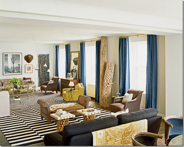 The trendy alternative to blue and white stripes are the black and white  dhurries  Used to distance decors from the beachy look associated with the  blue and. COTE DE TEXAS  Blue   White Striped Rugs