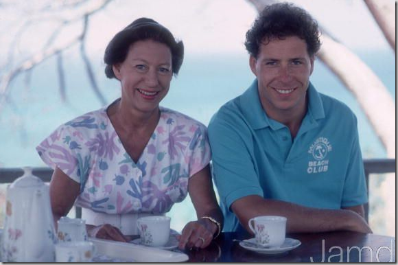 Princess Margaret And Her Son David Linley Vacationing At Mustique