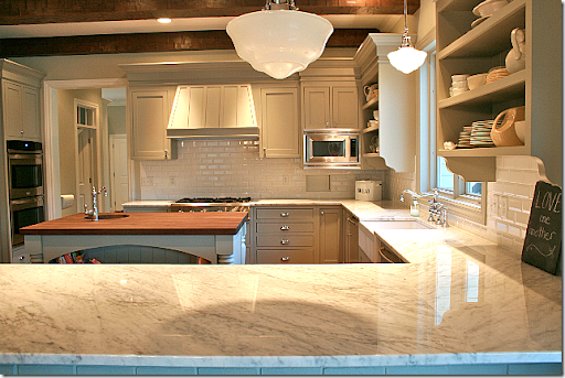 And She Used The Exact Same Gray On Her Countertops That Sally Wheat Did:  Benjamin Moore Fieldstone.