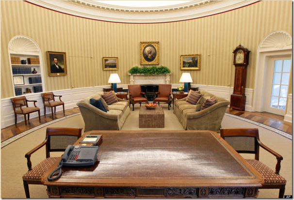 Cote de texas the oval office before after Oval office decor by president