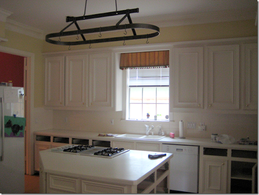 BEFORE: What This Kitchen Looked Liked With White Corian, White Appliances,  Yellow Walls, And An Inset Sink.