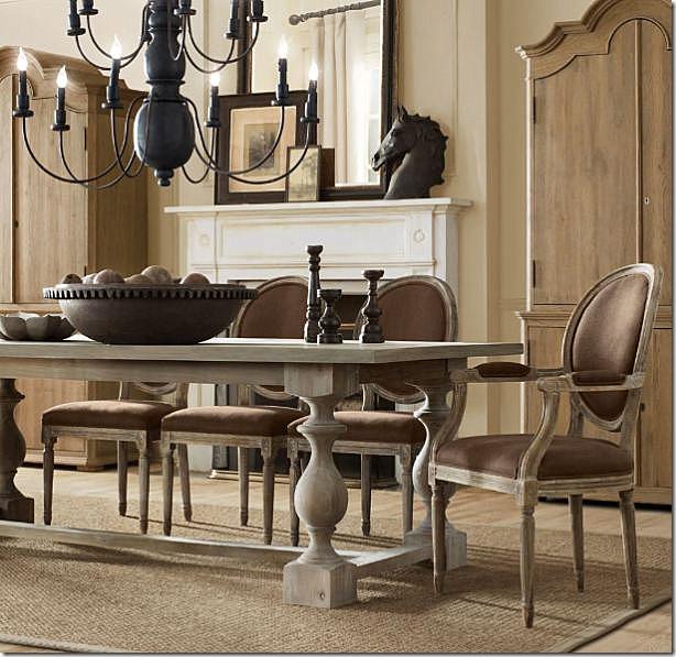 Restoration Hardware Dining Room: COTE DE TEXAS: More Rough Luxe Bargains