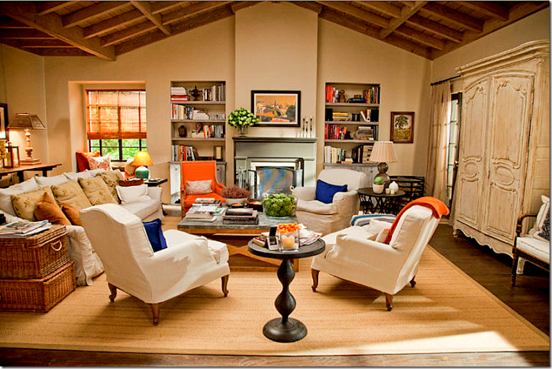 It's Complicated movie Meryl Streep in farmhouse cottage living room