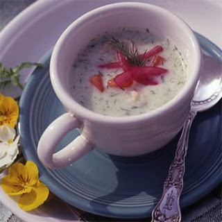 Cool as a Cucumber Soup with Shrimp