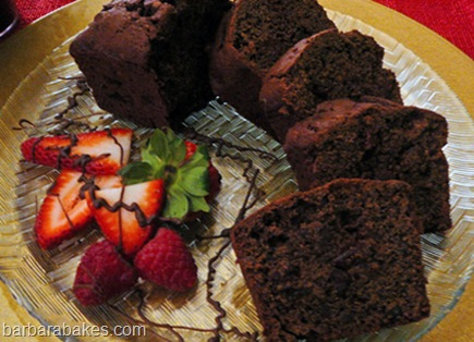 Triple Chocolate Cherry Quick Bread