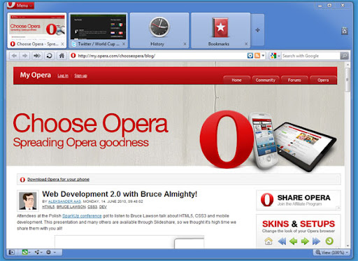 opera launches opera 10.60 beta opera 10.70 image