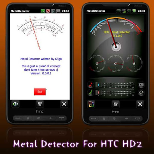 metal detector app for HTC HD2 Magic android phone sensor earth magnetic field, convert Phone into Metal Detector app