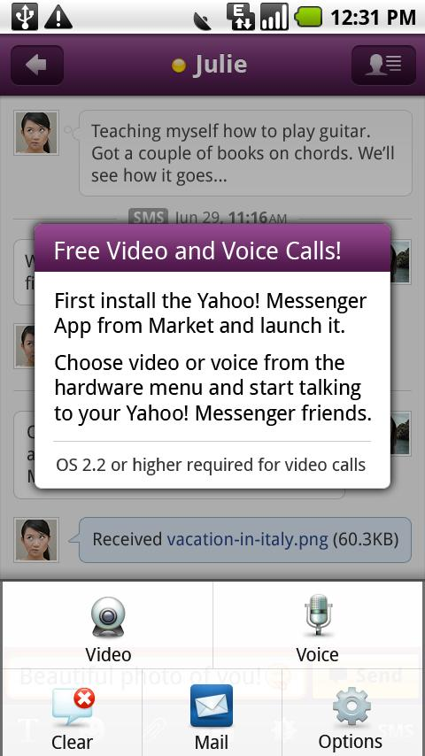 Yahoo Messenger Plug-in - screenshot