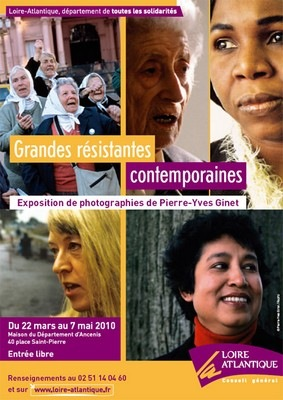 Grandes résistantes contemporaines. Expo photos de Pierre-Yves GINET