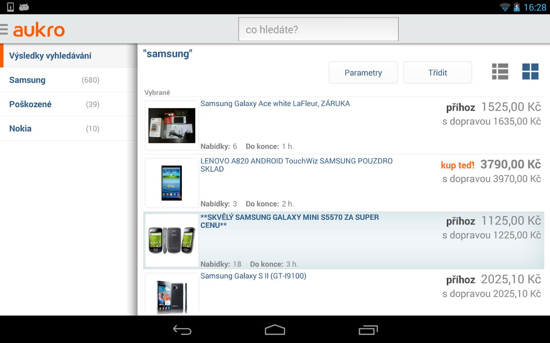 Aukro.cz - screenshot