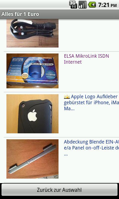 1 Euro Auktionen- screenshot