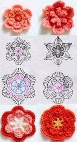 flowers patterns crochet