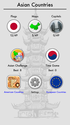 Asian Countries & Middle East - screenshot