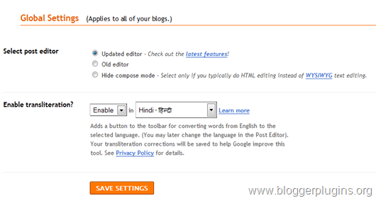 enable t he new blogger post editor