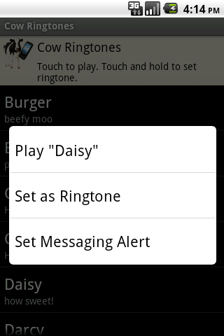Cow Ringtones - screenshot