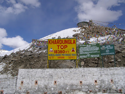 The highest Motorable Mountain Pass in the World @ 18380 Ft