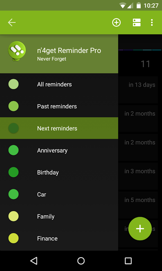 n'4get Reminder Pro- screenshot
