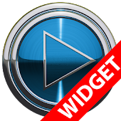 Poweramp widget BLUE PLATIN