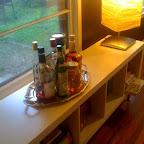 """""""Silver"""" platter (from Goodwill) Bar"""