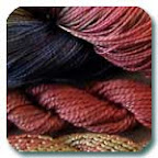image of hand dyed thread