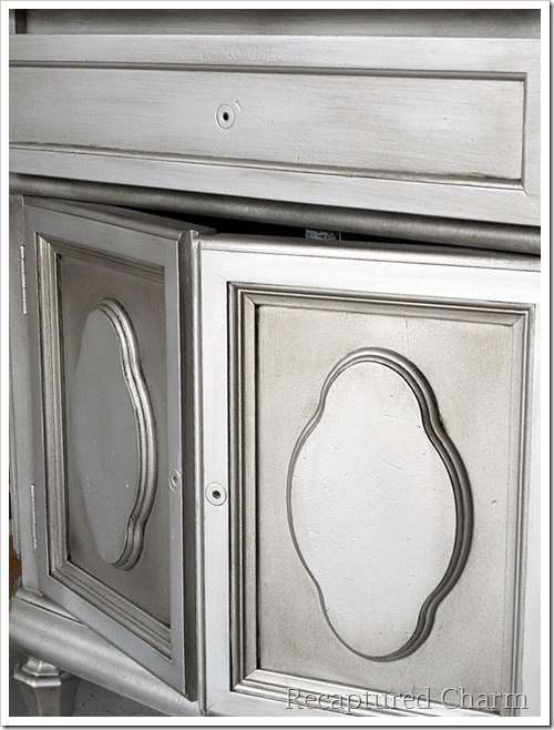 Silver Metallic Night Stands 021a