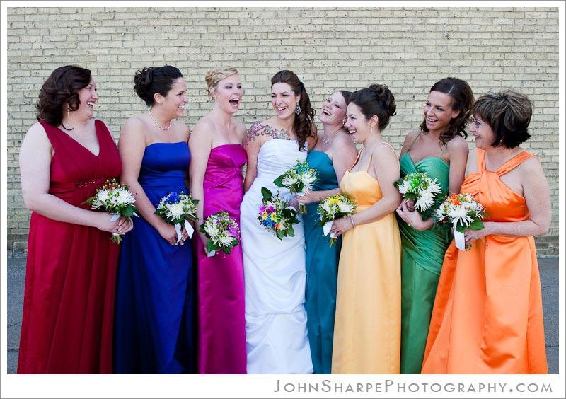 St Cloud, MN Bride and Bridesmaids Portrait