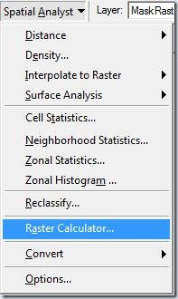 F5 Raster calculator