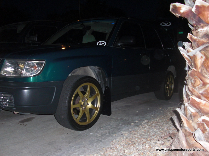 WRX Spring and Strut Install on a 1998 Subaru Forester – Unique