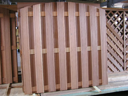 bangkirai zaun oben gebogen 180x180cm dichtzaun v2a ebay. Black Bedroom Furniture Sets. Home Design Ideas