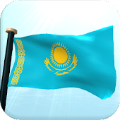 Kazakhstan Flag 3D Wallpaper