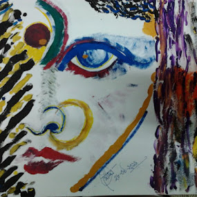 MOTHER (MA) by Soumitra Biswas - Mixed Media All Mixed Media ( ma durga, kali ma, goddes kali, goddess )