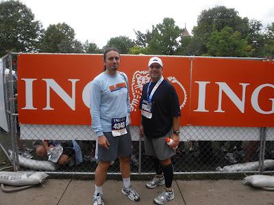 Me (left) with my friend at the 2009 Hartford Half Marathon