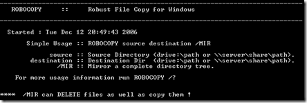 Robocopy - Robust File Copy for Windows