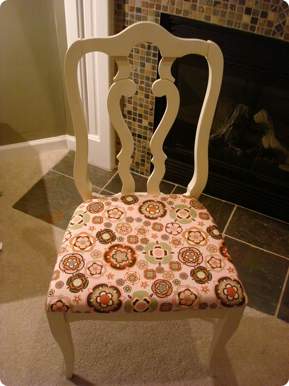 recover a chair with new fabric