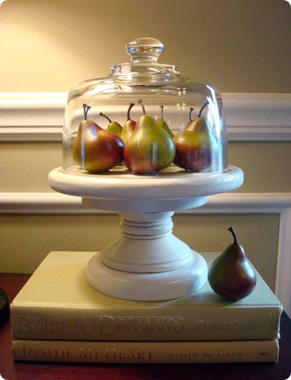 cloche with pears
