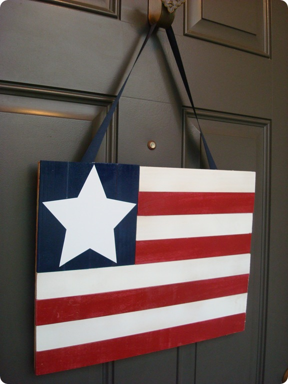DIY flag decor